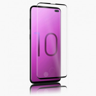Vitre Protection Ecran Samsung Galaxy S10+ Plus Optiguard Glass Curve Noir QDOS