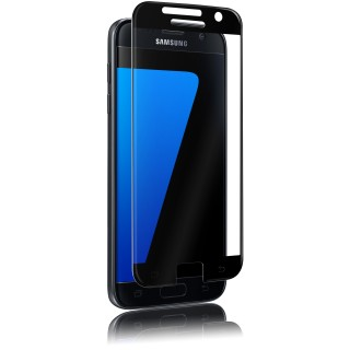 Vitre Protection Ecran Samsung Galaxy S7 Optiguard Glass Protect Noir QDOS
