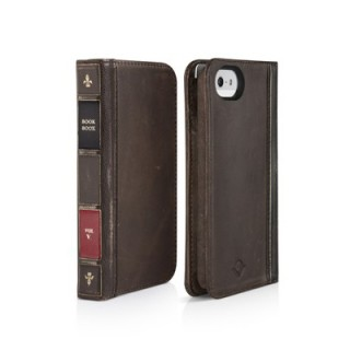Etui BookBook iPhone 5/5S/SE Twelve South Cuir Marron
