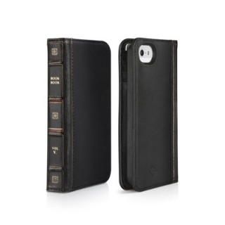 Etui BookBook iPhone 5/5S/SE Twelve South Cuir Noir