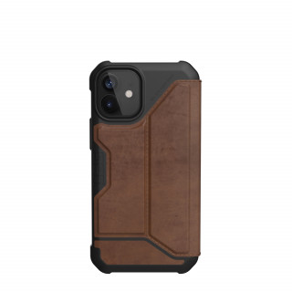 Etui Folio Apple iPhone 12 Mini UAG Metropolis Cuir Marron