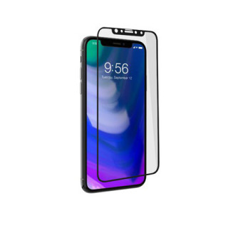 Vitre Protection Ecran iPhone X Zagg InvisibleShield Glass+ Contour Noir