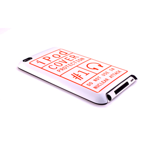 "Coque QDOS iPod Touch 4G ""Notice Nuclear"" Blanche & Orange"