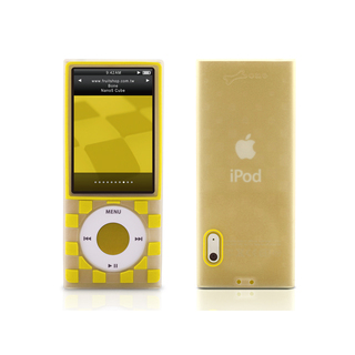 Housse silicone Bone Collection Nano Cube Jaune pour iPod Nano 5G
