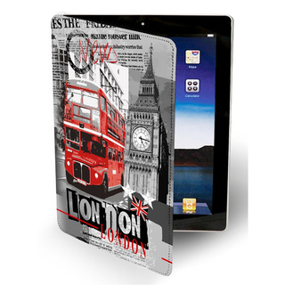 "Etui Apple Nouvel iPad / Nouvel iPad Retina Akashi ""London News"""