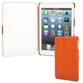 Housse Cuir Apple iPad Mini/iPad Mini Retina/iPad Mini 3 Prestige Issentiel Orange Blanc