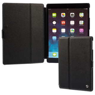 "Housse Apple iPad Air Issentiel ""Prestige"" Cuir Noir Grainé"
