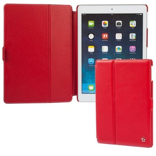 "Housse Apple iPad Air Issentiel ""Prestige"" Cuir Rouge"