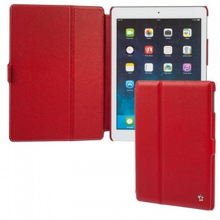 "Housse Apple iPad Air Issentiel ""Prestige"" Cuir Rouge Graîné"