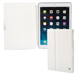 "Housse Apple iPad Air Issentiel ""Prestige"" Cuir Blanc Grainé"