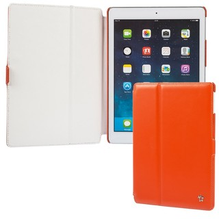 "Housse Apple iPad Air Issentiel ""Prestige"" Cuir Orange/Blanc"