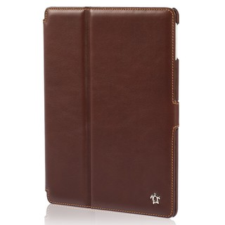 "Housse Apple iPad Air 2 Issentiel ""Prestige"" Cuir Chocolat/Camel"