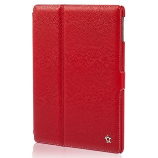 "Housse Apple iPad Air 2 Issentiel ""Prestige"" Cuir Rouge Grainé"