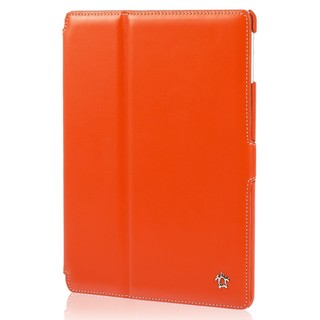 "Housse Apple iPad Air 2 Issentiel ""Prestige"" Cuir Orange/Blanc"