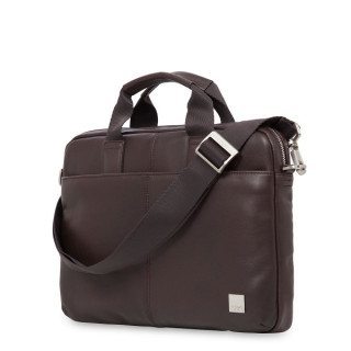 "Sacoche Cuir Ordinateurs 13"" Knomo Stanford Marron"