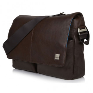 "Sac Bandoulière Ordinateurs 15"" Knomo New Kobe Cuir Marron"