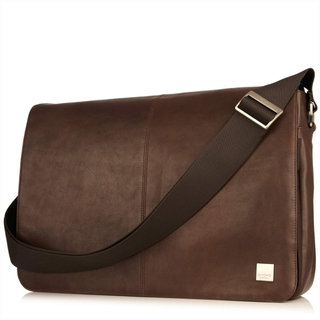 "Sacoche Cuir Ordinateurs 15.6"" Knomo Bungo Marron"