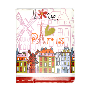 "Etui Apple iPad 2 & Nouvel iPad / Nouvel iPad Retina ""Paris Design"" by Akashi"