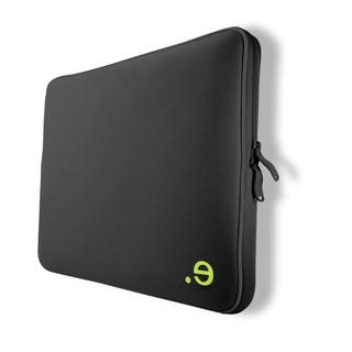 "Housse Be.ez ""La robe"" Black Addict / Wasabi pour MacBook Pro 15"""
