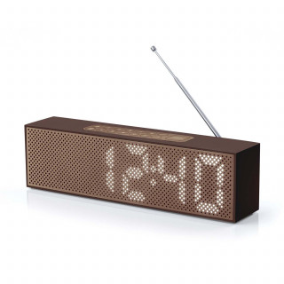 Radio-Réveil AM/FM Titanium Marron Lexon LA83MM
