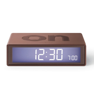 Réveil Lexon LCD Flip Clock Marron LR130MM