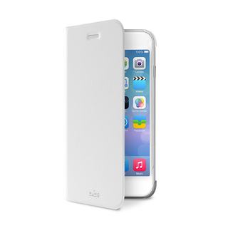 Etui Folio Apple iPhone 6/6s Puro Booklet Blanc