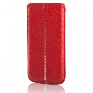 Étui Cuir iPhone 6/6s/7 Issentiel Allure Rouge Grainé