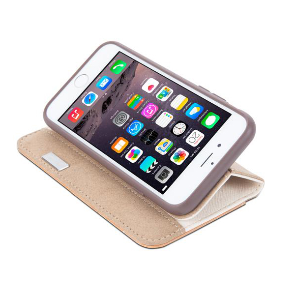moshi etui portefeuille iphone 6 6s overture moshi beige. Black Bedroom Furniture Sets. Home Design Ideas