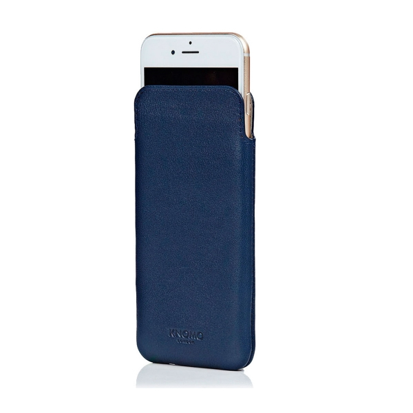 knomo etui cuir slim iphone 6 6s knomo bleu 90 959 afb. Black Bedroom Furniture Sets. Home Design Ideas