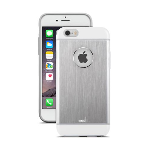 moshi coque iphone 6 6s iglaze armour aluminium argent. Black Bedroom Furniture Sets. Home Design Ideas