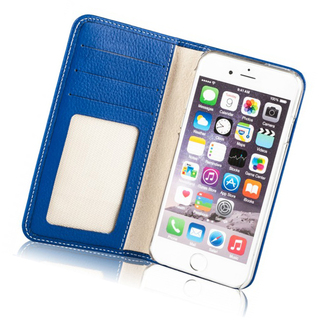 Etui Cuir Apple iPhone 6 Plus/6s Plus Issentiel Exclusive Bleu Royal