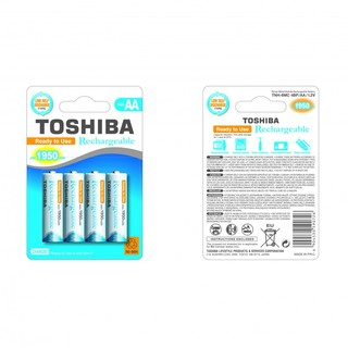 Piles Rechargeables AA 1950mAh Toshiba