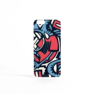 Coque Apple iPhone 6/6s itCase Graffiti Blue Round