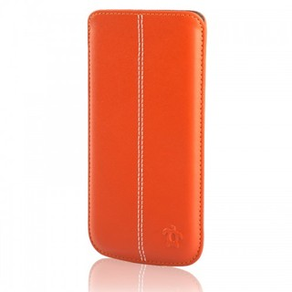 Étui Cuir Samsung Galaxy S6 Issentiel Allure Orange
