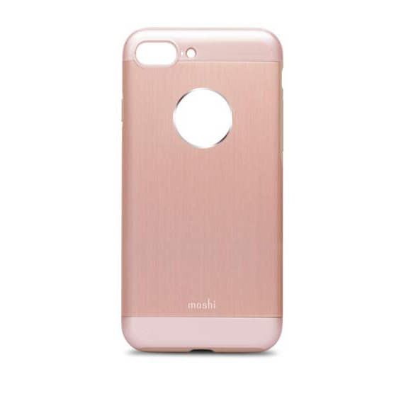 moshi coque iphone 7 plus 8 plus iglaze armour aluminium moshi or rose 99mo090251. Black Bedroom Furniture Sets. Home Design Ideas