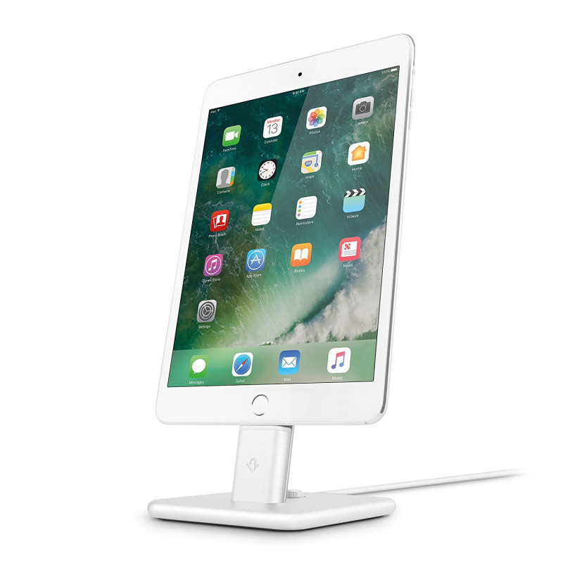 twelve south support chargeur iphone ipad hirise 2 deluxe twelve south blanc tw 12 1628. Black Bedroom Furniture Sets. Home Design Ideas