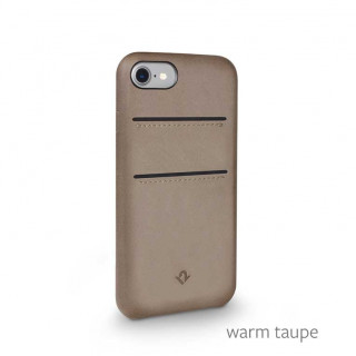 Coque iPhone SE (2020)/8/7 Twelve South Relaxed Cuir Taupe