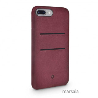 Coque iPhone 7 Plus/8 Plus Twelve South Relaxed Cuir Marsala