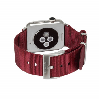 Bracelet Nato Apple Watch 42mm Incase Nylon Rouge Foncé