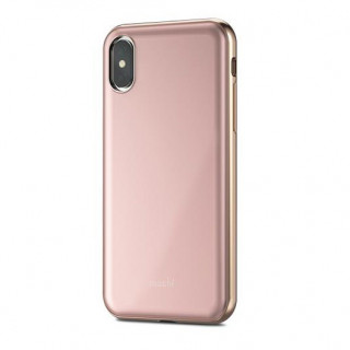 Coque iPhone XS/X Moshi iGlaze Armour Rose