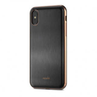Coque iPhone XS/X Moshi iGlaze Armour Noir