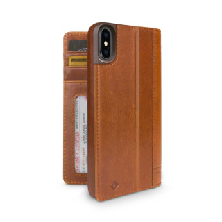 Etui iPhone X Twelve South Journal Cuir Cognac