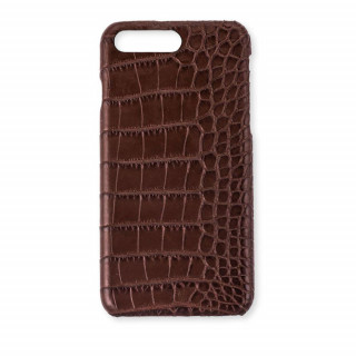 Coque Alligator Véritable iPhone 7 Plus/8 Plus Marron
