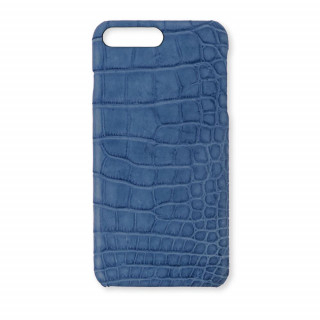 Coque Alligator Véritable iPhone 8 Plus/7 Plus Bleu Jean
