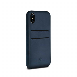 Coque iPhone X Twelve South Relaxed Cuir Bleu Indigo