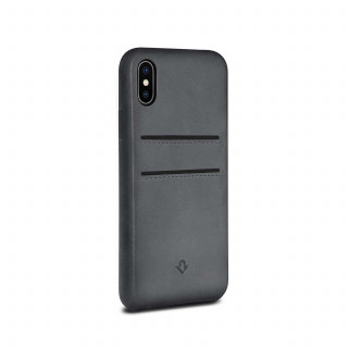 Coque iPhone XS/X Twelve South Relaxed Cuir Gris