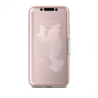 Etui iPhone X StealthCover Moshi Rose