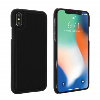 Coque Apple iPhone X Cuir Akashi Noir