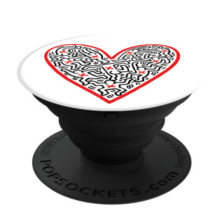 Support PopSockets Smartphone/Tablette Keith Harring Heart