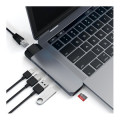 Hub USB-C Multi-Ports Ethernet Satechi Type-C Pro Space Grey